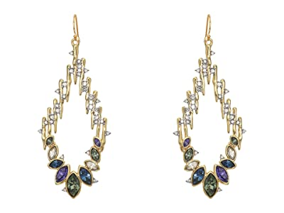 Alexis Bittar Navette Crystal Spiked Wire Earrings (10K Gold/Rhodium) Earring