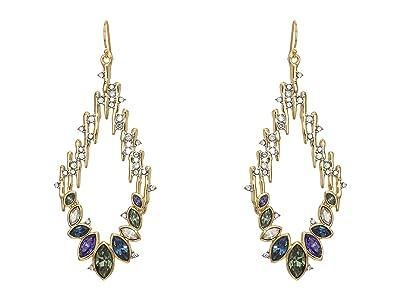 Alexis Bittar Navette Crystal Spiked Wire Earrings (10K Gold/Rhodium) Earring