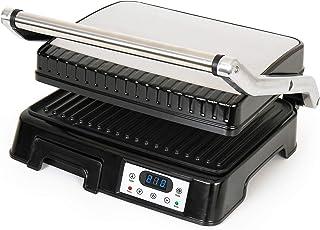 Venga! VG COG 3001 - Sandwichera y grill para paninis de 2000 W (acero inoxidable y plástico, color negro)