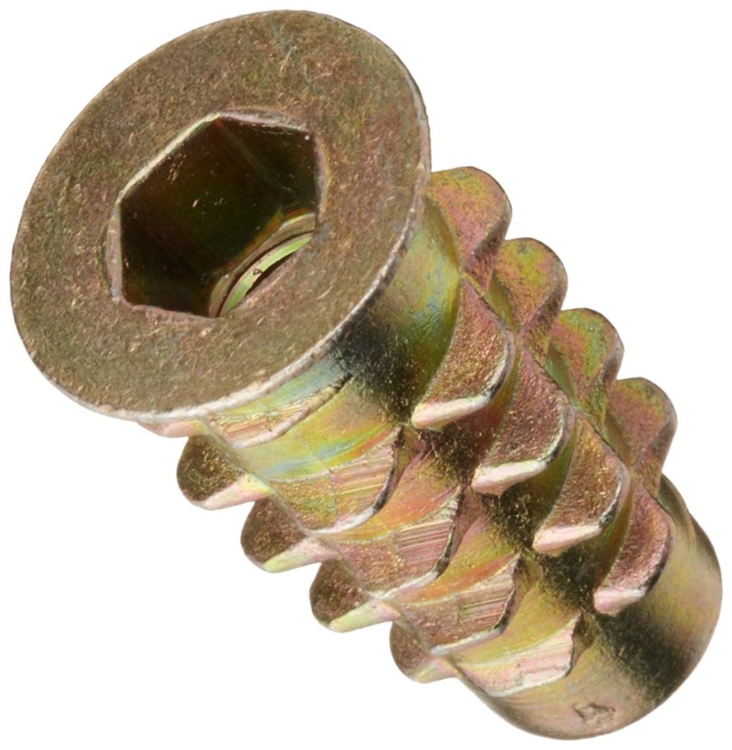 E-Z Lok Threaded Insert, Zinc, Hex-Flanged, #10-32 Internal Threads, 20mm Length (Pack of 25)