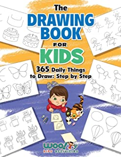The Drawing Book for Kids: 365 Daily Things to Draw, Step by Step (Woo! Jr. Kids Activities Books)
