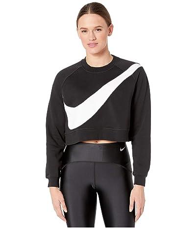 Nike NSW Swoosh Crew Fleece (Black/White) Women