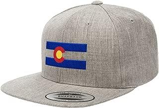 Colorado State Flag Premium Classic Snapback Hat Denver Boulder 6089M (Grey)