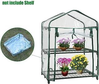 Chalkalon Mini Invernadero de 2 Niveles, Invernadero De Planta Pequeña Invernadero De Jardín Portátil para Exterior E Interior (sin Marco De Hierro)