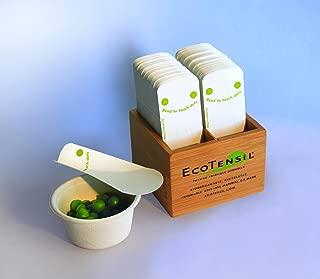 EcoTaster Mini Starter Kit: Compostable, disposable tasting spoons (1000) w/eco-friendly dispenser