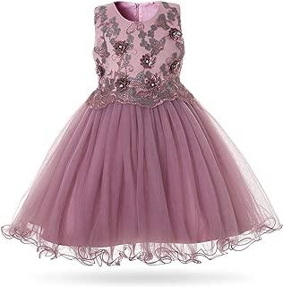 CIELARKO Girls Dress Kids Flower Party Wedding Dresses for 2-11 Years
