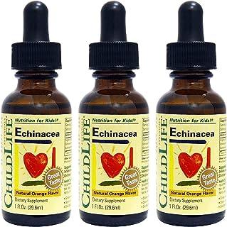 ChildLife Echinacea, Natural Orange Flavor - Organically Grown, Gluten Free, Alcohol Free, Casein Free, Non-GMO - 1 fl. oz...