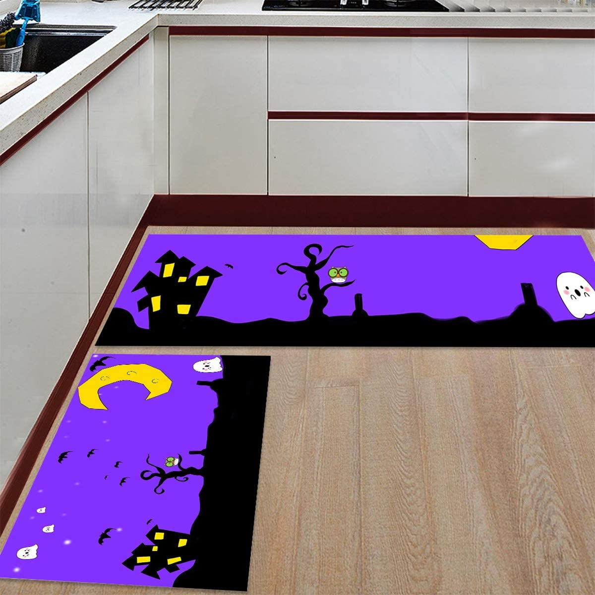 Womenfocus Kitchen Mat Set Anti-WearNon-Slip 2 Today's Overseas parallel import regular item only Rug Pi Floor