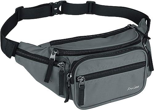ProCase Fanny Pack Waist Packs for Men Women, Large Capacity Waist Bag Hip Pack for Travel Hiking Running Outdoor Spo...