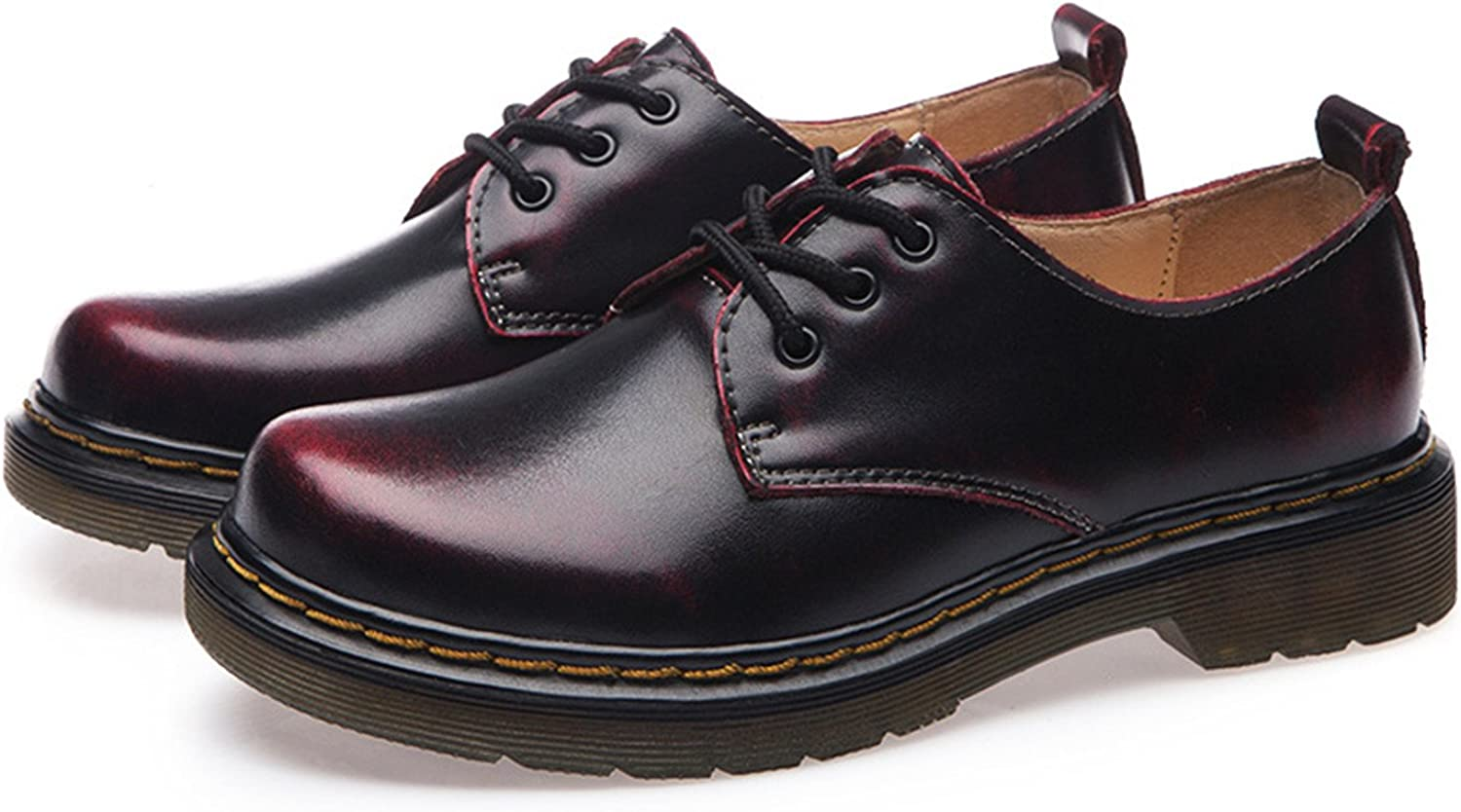 Mandaartins Women Oxfords shoes Lace up Genuine Leather Flats