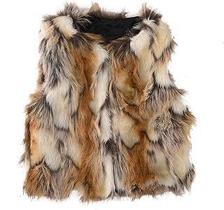 Baby Girl Faux Fur Vest Warm Sleeveless Jacket