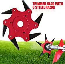 Ball's Outdoor Trimmer Head 6 Steel Blades Razors 65Mn Lawn Mower Grass Weed Eater..