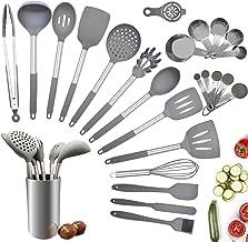 Juego de utensilios de cocina, 25 piezas de silicona para cocinar, juego de utensilios de cocina con silicona resistente a...
