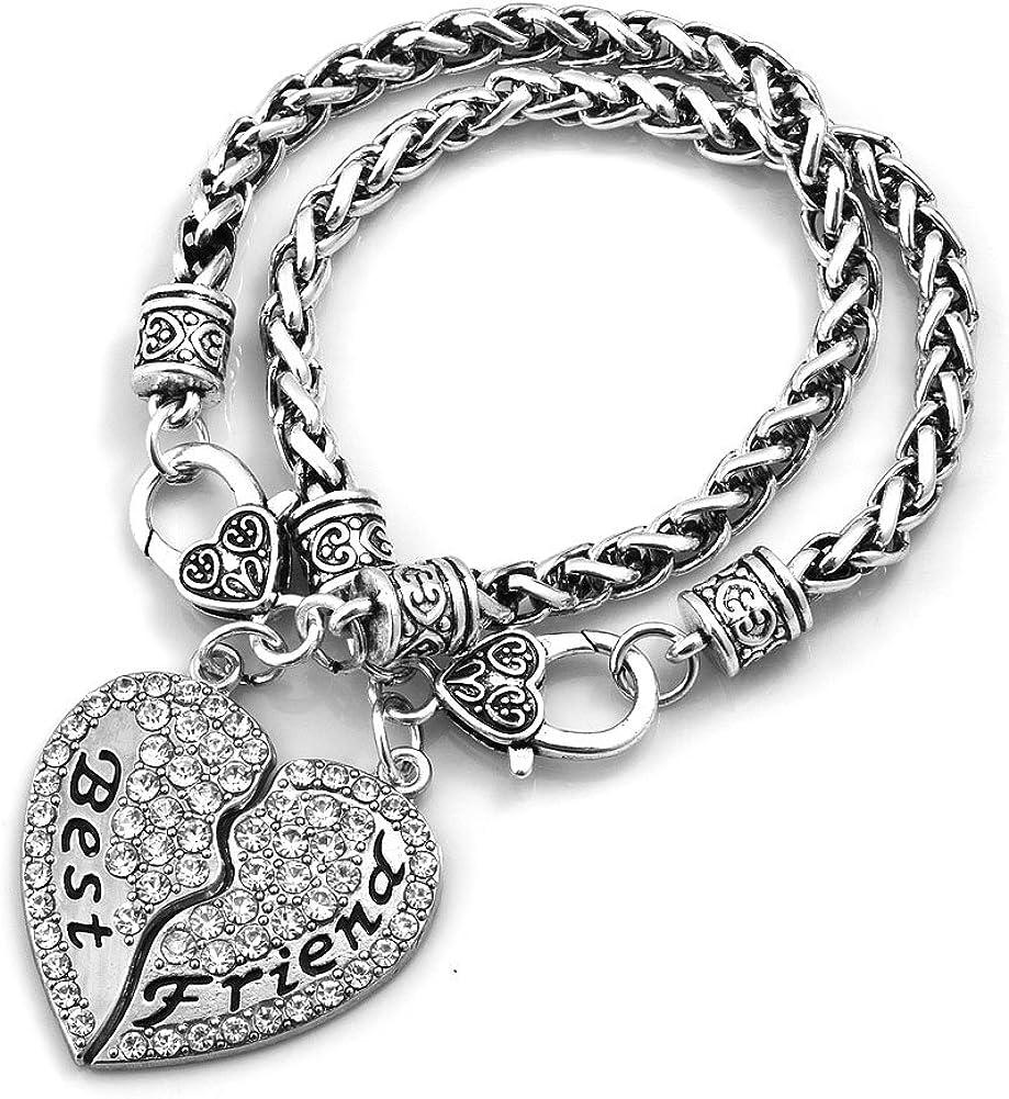 ShinyJewelry Best Friend Love Heart Set Spasm price for 4 years warranty Friendship Bracelet