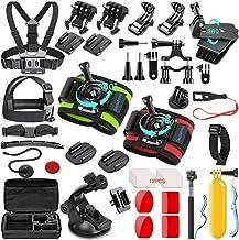 کیت لوازم جانبی دوربین SmilePowo 51 in 1 Sport for GoPro Hero 7 6 5 4 3 Black، Hero 2018، Session Fusion، SJCAN AKASO APEMAN DBPOWER Lightdow Campark Camera Action Action with Anti-Fog Inserts، Grip Floating