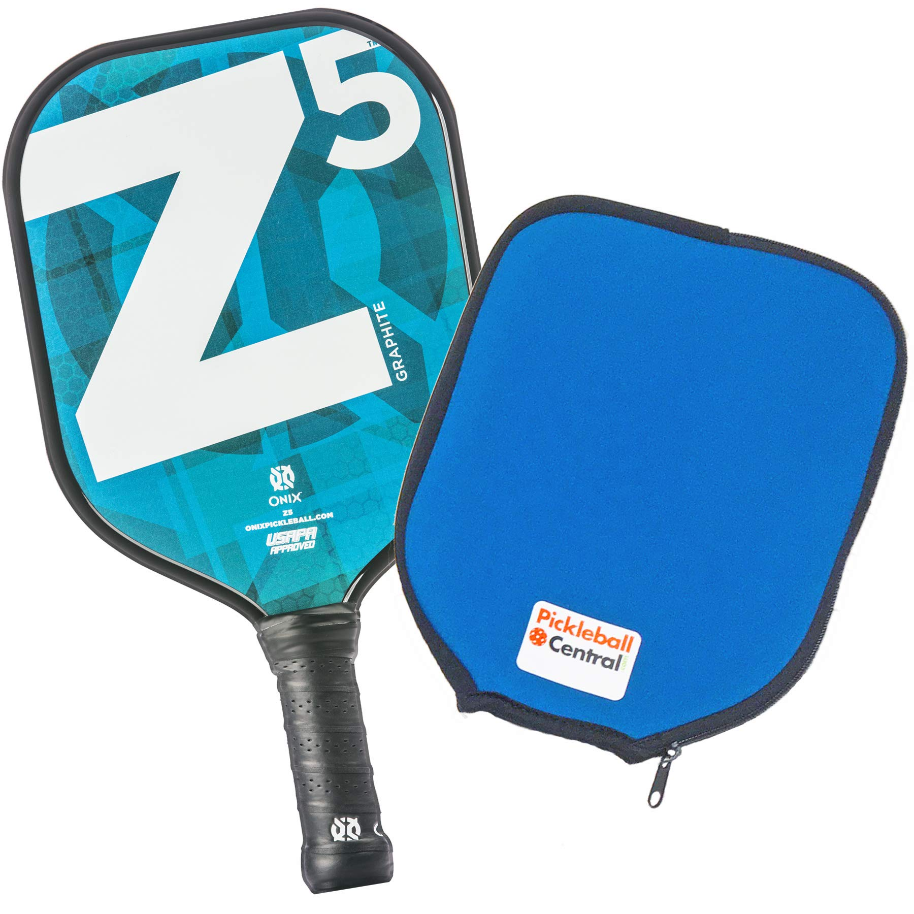 Onix Z5 Graphite Pickleball Paddle and Paddle Cover -QDTB