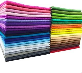 flic-flac 42pcs1.4mm Thick Soft Felt Fabric Sheet Assorted Color Felt Pack DIY Craft Sewing Squares Nonwoven Patchwork (30cm 30cm)