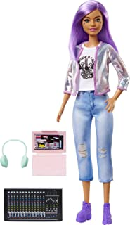 Barbie Career of The Year Music Producer Doll (12-in), Colorful Purple Hair, Trendy Tee, Jacket & Jeans Plus Sound Mixing ...