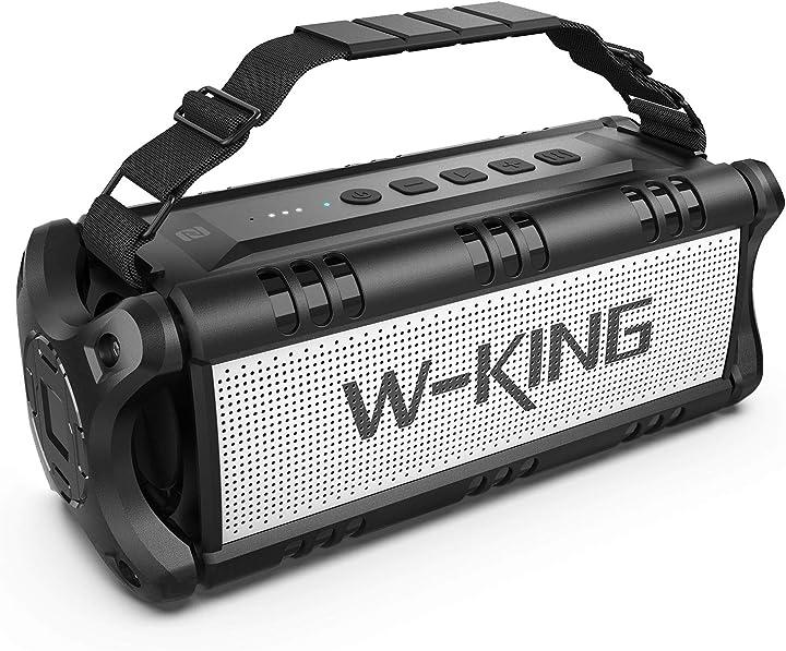 W-king 50w(picco 70w) altoparlante bluetooth portatili -24 ore di riproduzione - portatile speaker D8