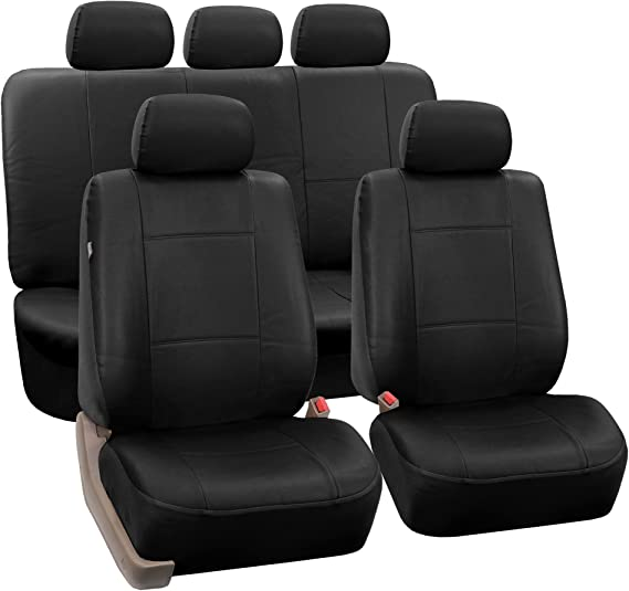 New PU Leather Car Truck Seat  Steering Covers Front Back Set BT For Ford