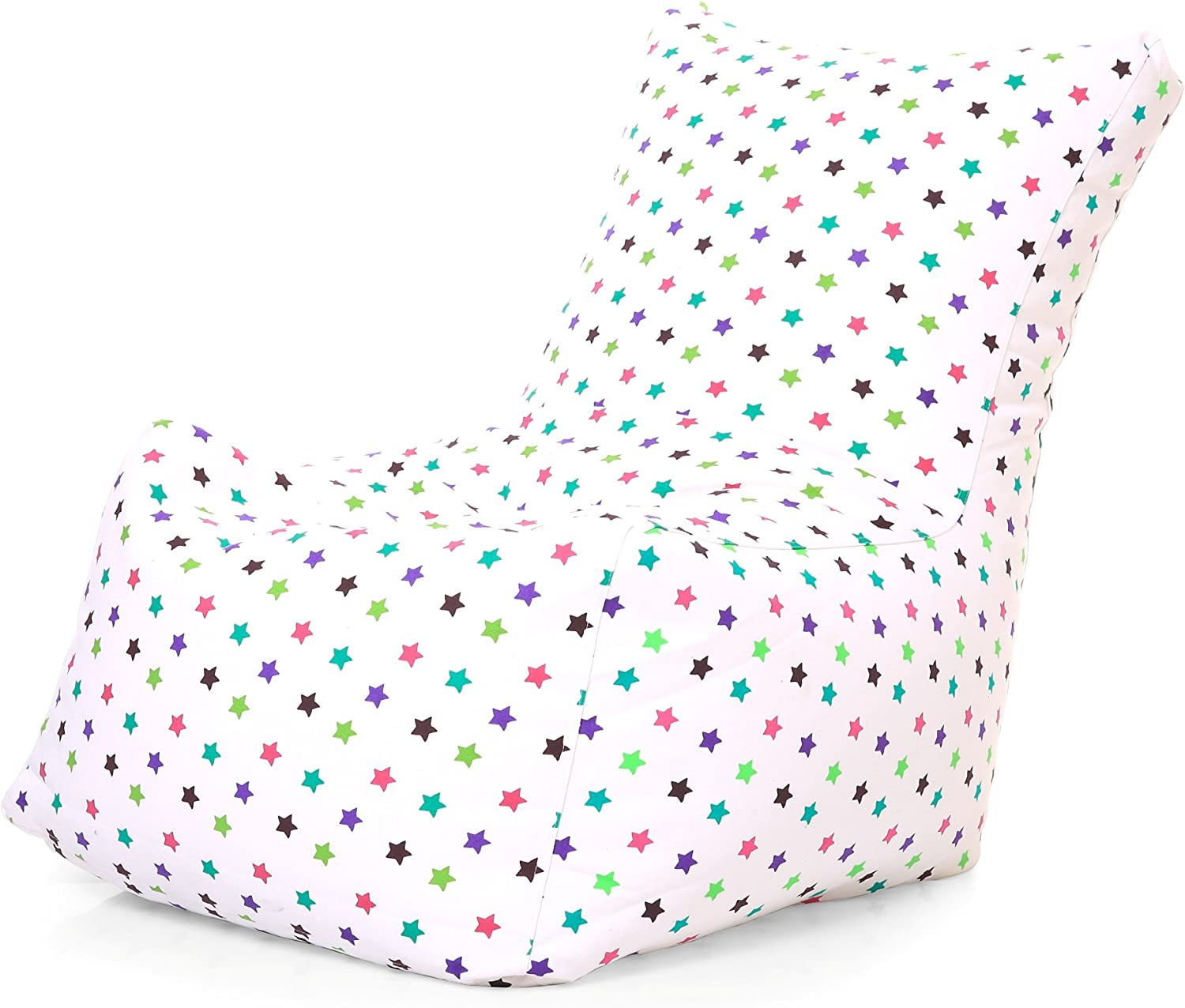 Style Homez Chair Cotton Canvas Star Printed Bean Bag XXL Size Cover Only