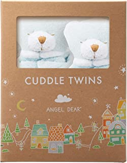 Angel Dear Cuddle Twins Blankie, Blue Bear