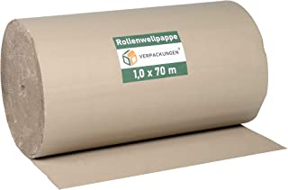 1 Rolle Wellpappe Rollenwellpappe 100cm 70lfm