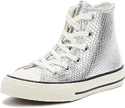 zapatillas converse niña plata