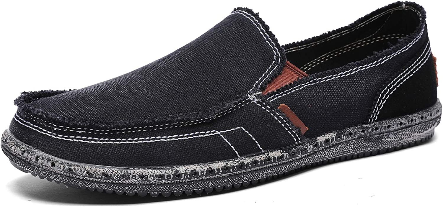 CASMAG Men's Casual Cloth Shoes Canvas Ranking integrated 1st place Slip shipfree on Loafers V Leisure