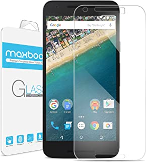 Nexus 5X Screen Protector, Maxboost [Tempered Glass] Premium Durable Glass Screen Protector for LG Google Nexus 5X - 0.3mm Screen Protection Case Fit 99% Touch Accurate