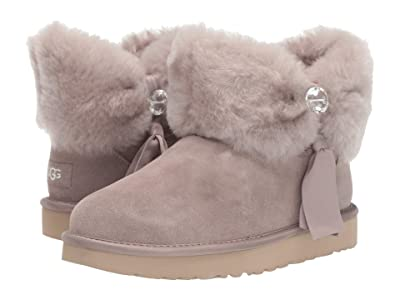 UGG Cinched Fur Mini (Oyster) Women