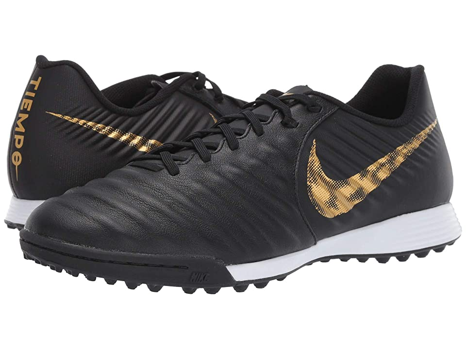 Nike Tiempo LegendX 7 Academy TF (Black/Metallic Vivid Gold) Men's Soccer Shoes