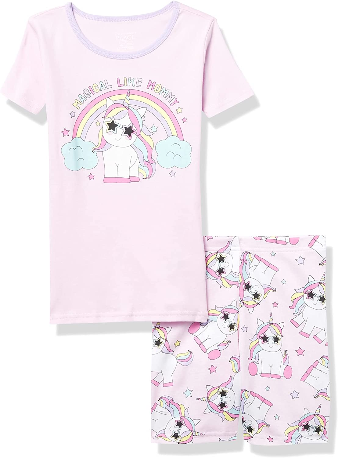 The Children's Place Baby And Toddler Girls Unicorn Snug Fit Cotton Pajamas
