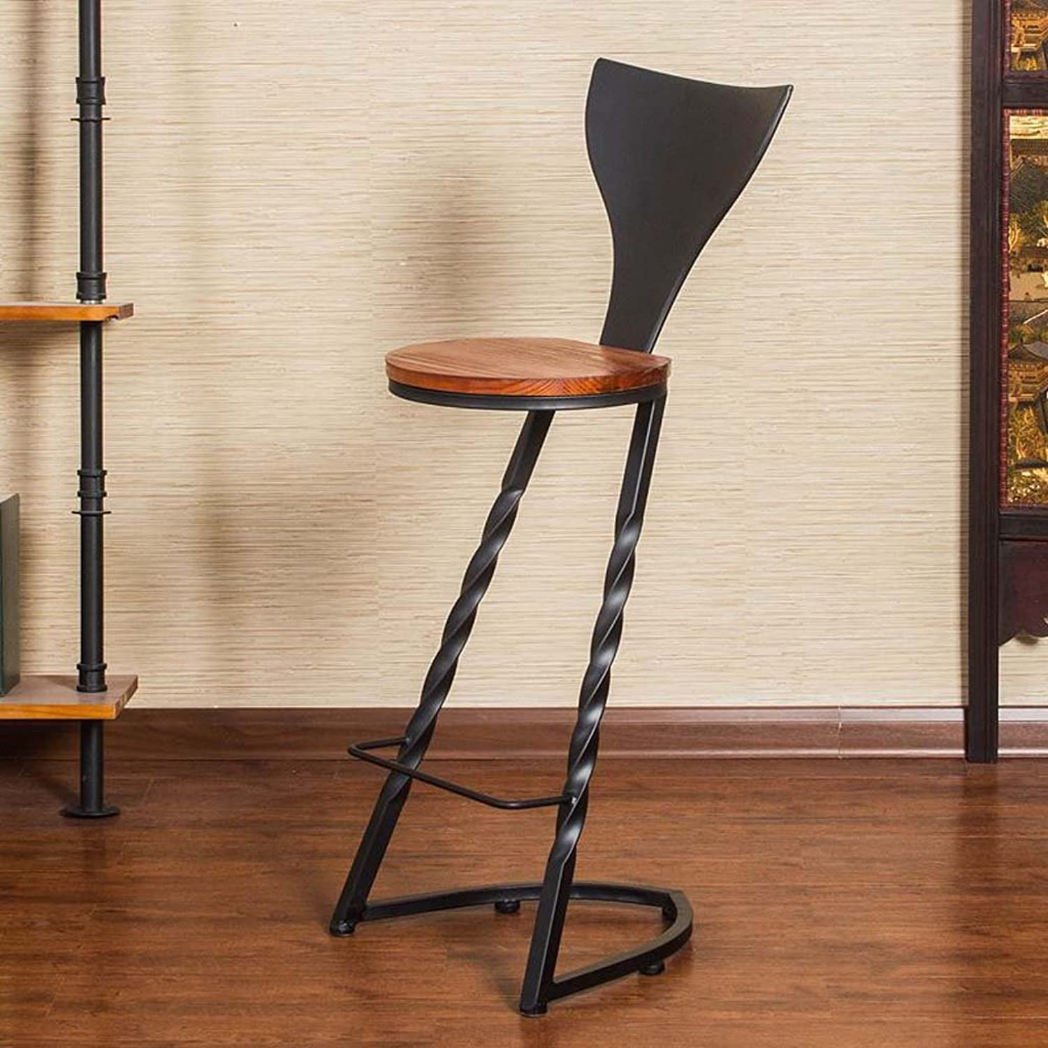GSHWJS American Wrought Iron Bar Stool High Chair Dining Chair Cafe Bar Stool Put The Stool