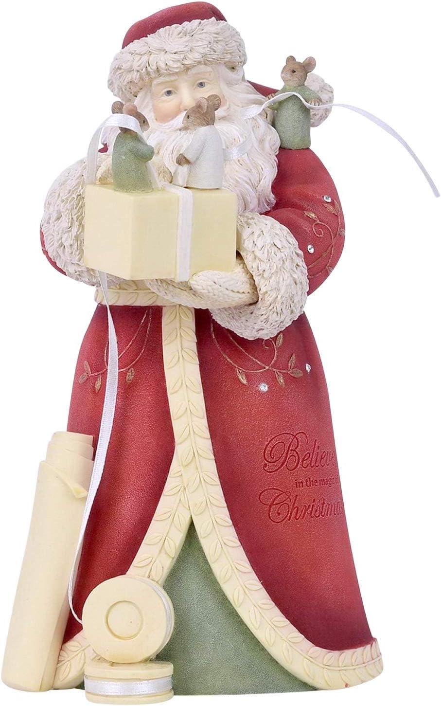 Enesco Heart of Tampa Mall Christmas a Perfect Bow Santa Inc Figurine 7.95 Bombing free shipping