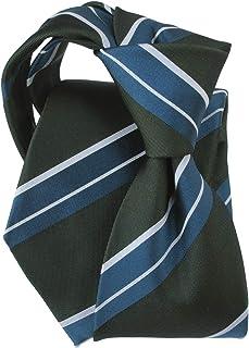 [ステファノ ビジ] ネクタイ ビジネス ブランド イタリア製 シルク メンズ おしゃれ ストライプ ダークグリーン