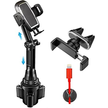 2020 Upgraded Long Neck Car Cup Holder Phone Mount & Air Vent Phone Holder , Fits All Cellphones / iPhone 12 Pro Max Samsung Note 20 Ultra S20 Plus . etc & Most of GPS