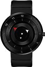 Xforia Men's Arrow Premium Smart Look Full Black Silicon Strap Analog Wrist Watch