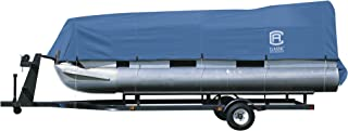 Classic Accessories Stellex Pontoon Boat Cover, Durable Boat Cover with Polyester Fade-Resistant Fabric (Blue)