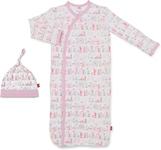 Magnificent Baby Magnetic Modal Sack Gown and Hat Set, Newborn - 3 Months