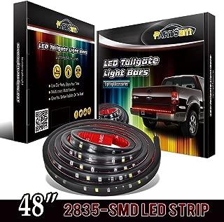 Partsam Truck Tailgate Red/White LED Light Bar Reverse Brake Turn Signal Running 48