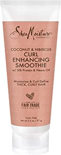 SheaMoisture Coconut & Hibiscus Curl Enhancing for Thick, Curly Hair Smoothie to Reduce Frizz 3.2 oz