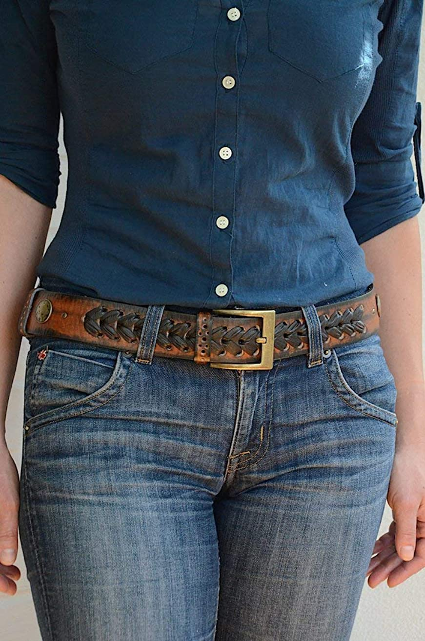 Womens Leather Belt for Jeans