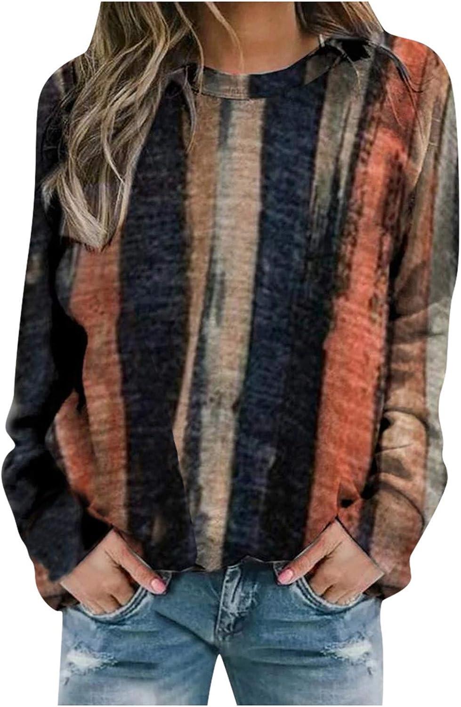 Long Sleeve Tops for Women,Womens Tie Dye Sweatshirts Crewneck Aesthetic Vintage Oversized Long Sleeve Pullover