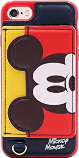 iPhone 6 Case, iPhone 6s Case, MC Fashion Cute [Cartoon Kickstand Series] with [Card Holder Stand] TPU + Leather Soft Protective Case for Apple iPhone 6 and iPhone 6s (Mickey Mouse)
