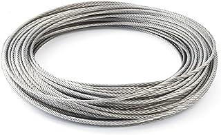 Draadkabel, roestvrij staalkabel, 4 mm, 7 x 7, roestvrij staaldraad, INOX V4A A4, roestvrij voor leuning-, touw-, staalkab...