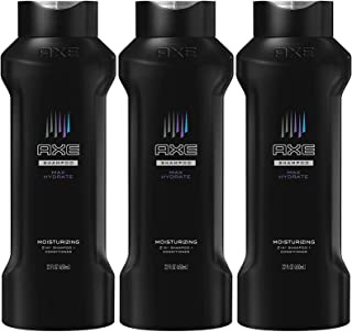 AXE 2-in-1 Shampoo & Conditioner, Max Hydrate, 22 Ounce (Pack of 3)