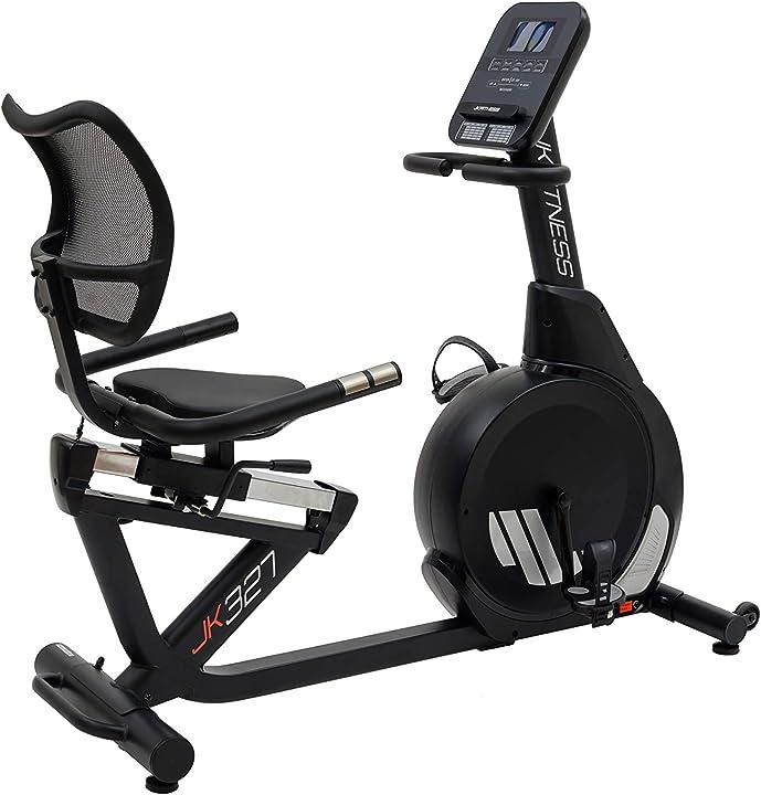 Cyclette jk fitness recumbent jk 327, 16 livelli di resistenza gestita elettronicamente B08VWM5TBB
