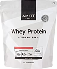 Amazon-Marke: Amfit Nutrition Molkeneiweiß, Himbeergeschmack, 1kg