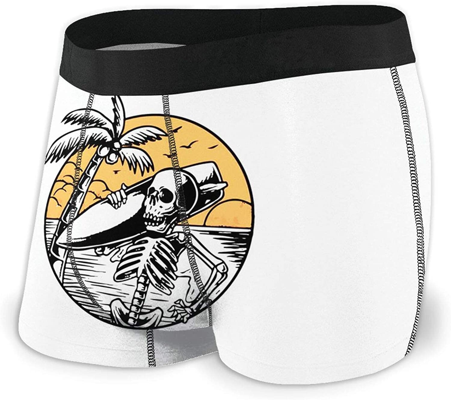 TZT Skeleton Surfer Men's Boxer Briefs Un Breathable Comfortable 2021 OFFicial spring and summer new